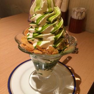 抹茶ブリュレパフェ(からふね屋珈琲店 三条本店 )