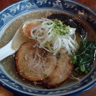 無添加 焼豚入り 塩らーめん (Ramen & Cafe & Bar  拉珈酒亭。)