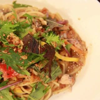 さばかんと野菜のペペロンチーノ(AGカフェ (AG cafe))