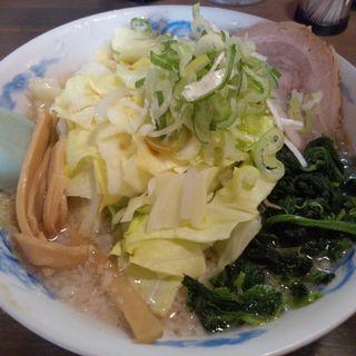 背脂醤油 野菜盛りらーめん ( 細麺 )(麺屋亥龍 (いりゅう))