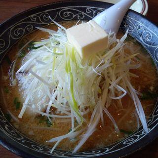 味噌バター+白ねぎ (らーめん梵天 日光店 )