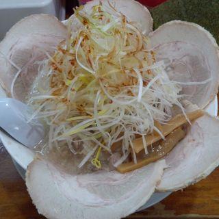 塩ネギチャーシューメン+味付玉子(ギトギトラーメン 成光)