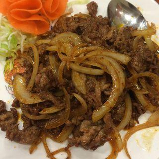 羊肉のクミン辛味炒め(中国食府 双龍居 天満駅前店 )