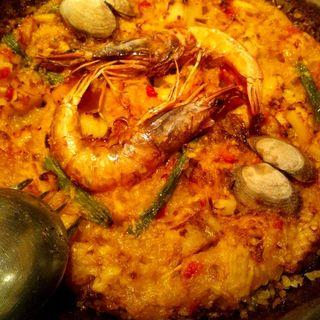 魚介のパエジャ(スペイン料理銀座エスペロ みゆき通り店)
