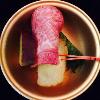 いぶりがっこチーズ、牛タンスモーク(BEDD SKY AUBERGE by JAL)