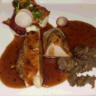 七面鳥の軽いスモーク 野菜のブーケとトリュフソース(Le Beurre Noisette TOKYO)