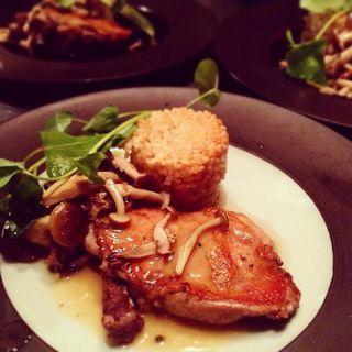 鶏のローストきのこソース(クッチーナ ベジターレ マルヨシ (【旧店名】SAKAYA CAFE MARUYOSHI))