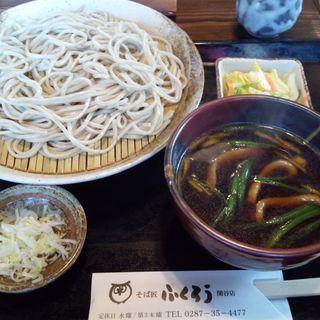 鴨汁つけ 皿そば(普通盛) (十割そば ふくろう 関谷店)