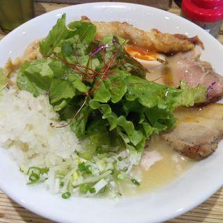 鶏そば塩 特製(こってり・鶏白湯)(NOODLE STOCK 鶴おか)