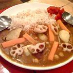 お豆と根菜のカレーライス