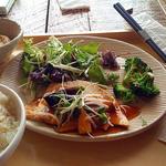 白身魚と野菜の酢あんかけ