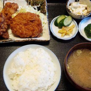 鶏のからあげとコロッケ ランチ(くま倉 )
