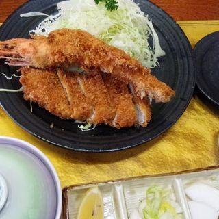 海老かつ 上盛り合わせ定食(かつ一 (かついち))
