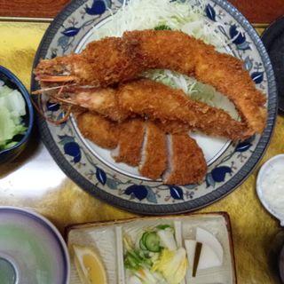 海老かつ 特上盛り合わせ定食(かつ一 (かついち))
