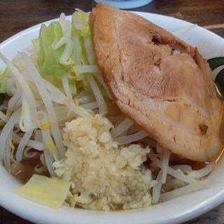 雷そば(並150g)+半熟玉子(雷 本店 (かみなり))