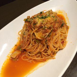 Spaghetti Arrabiata with Turnips(ベルマーレカフェ)