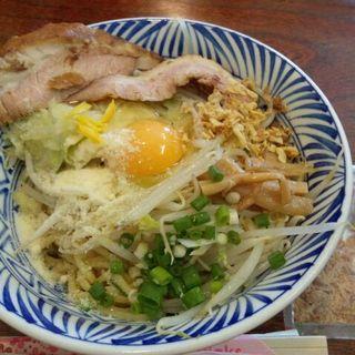 まぜそば・コク塩味(麺 200g・野菜増し)(ら~麺  爆筑)