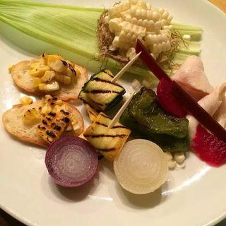 コーンと7種の野菜(オヤマバル)