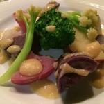 温野菜の白味噌仕立て