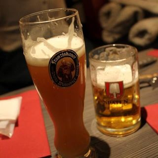 ビールとソーセージのセット(シュペッツレ カフェ&ワイン 表参道ヒルズ店 (【旧店名】レーゼン ヴァルト))