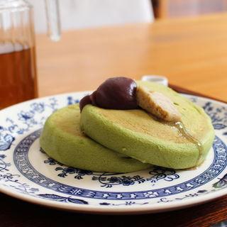 抹茶のホットケーキ(うめぞの カフェアンドギャラリー (うめぞの CAFE & GALLERY))