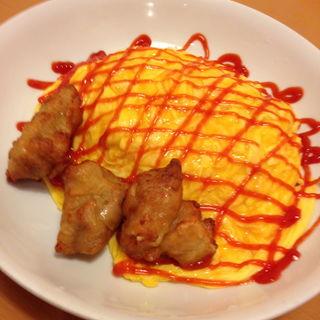 鶏からとふわふわ卵のオムライス