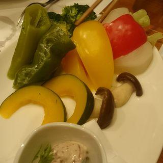 季節の野菜とコンビーフのバーニャカウダ(ステーキハウス 听 四条河原町店 (ポンド))