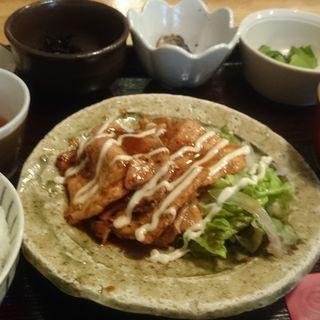 ランチセット 豚肉のロース(円屋 錦 (えんや にしき))