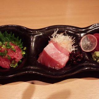 銚子産生バチマグロ三種盛り(たまゆら (玉響))