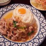 鶏肉バジル炒めのランチセット