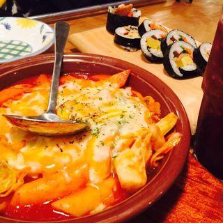 チーズトッポッキキンパセット(TAK CAFE (タクカフェ/チキンカフェ))