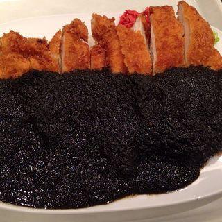 鶏カツ黒ルーライス(ダル食堂 堂島地下街店 (ダルショクドウ))