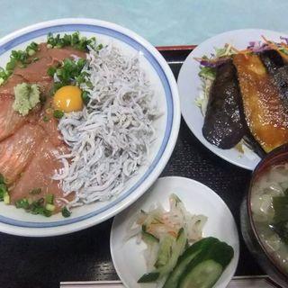 釜あげしらす生メジマグロ丼(ほりせい)