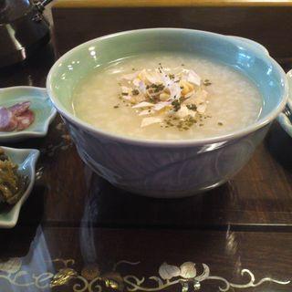 喫茶養生 茶葉粥セット(華泰茶荘 渋谷店)
