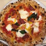 サラミとパプリカのピザ(ランチセット)