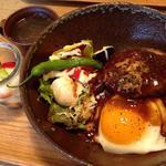 近江牛ハンバーグのロコモコ丼