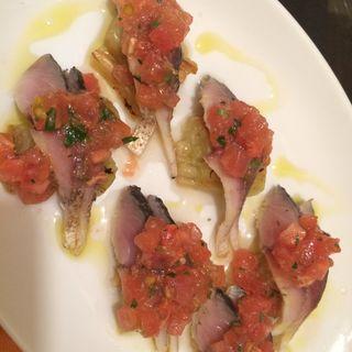 鯖と焼きナスのカルパッチョ(キッチン セロ (kitchen cero))