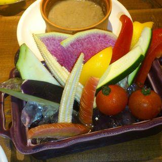 農園野菜のスペシャルバーニャカウダ (#702 CAFE&DINER なんば (ナナマルニ カフェアンドダイナー))
