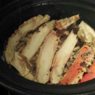 かにとキノコ土鍋ご飯(おこん)