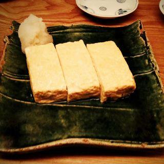 出汁巻き卵(蕎麦屋 山都)