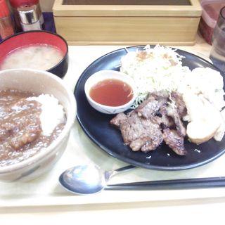 ステーキ定食カレーセット(カレーハウス五番館 新大阪店)