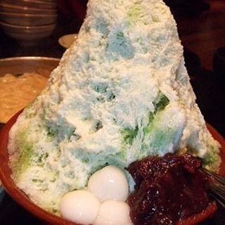 抹茶氷(博多もつ鍋 蟻月 恵比寿)