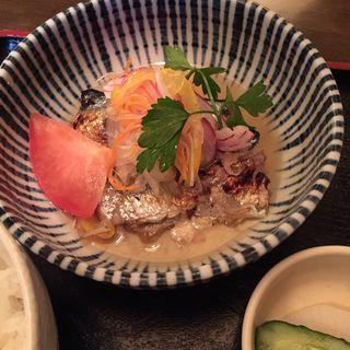 ランチの秋刀魚のマリネ(三亀勢 )