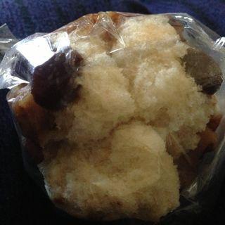 きな粉と豆の蒸しパン