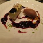 ピスタチオのムースとショコラアイス