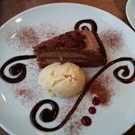チョコレートケーキ(ランチ ドルチェセット)