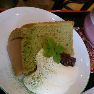 抹茶シフォンケーキセット(茶房うちだ )