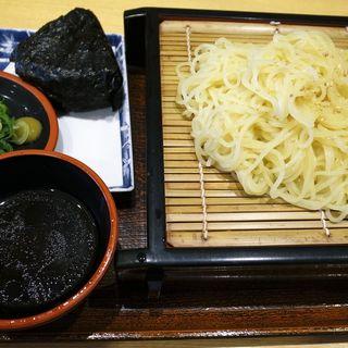 ザルラーメンおにぎりセット(麺ざんまい 近鉄京都駅店 )