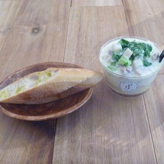 かぶと鶏肉のゴルゴンゾーラポテトクリーム(ポテトクリーム (Potato Cream))