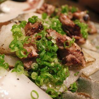 京鴨とタマネギの炙り焼き(聖護院 (しょうごいん))